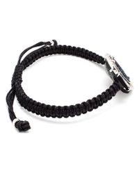 Kimberly Mcdonald | Blue 18K Gold, Geode And Diamond Macramé Bracelet | Lyst