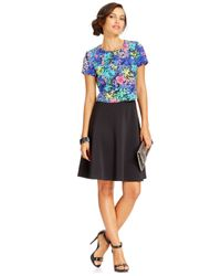 Spense | Multicolor Petite Layered Floral Dress | Lyst