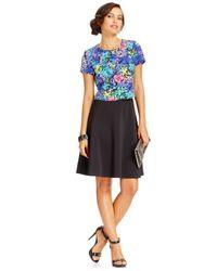 Spense - Multicolor Petite Layered Floral Dress - Lyst