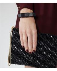 Reiss - Black Daphne Leather Bracelet - Lyst