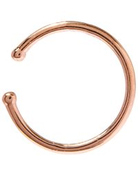 Kismet by Milka | Pink Rose Gold Geometry Circle Cuff Earring | Lyst