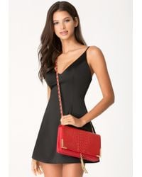 Bebe | Red Kyla Crossbody Bag | Lyst