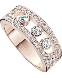 Messika - Metallic Move Joaillerie 18ct Rose-gold And Diamond Ring - Lyst