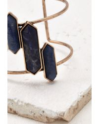 Forever 21 | Blue Cutout Faux Stone Cuff | Lyst