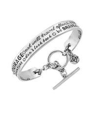 BCBGeneration | Metallic Engraved Crystal Bangle Bracelet | Lyst