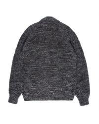 Paul Smith - Gray Men's Grey Mélange Wool-alpaca Zip-through Cardigan for Men - Lyst