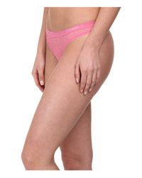 Emporio Armani | Pink Lace All Over Lace Thong | Lyst