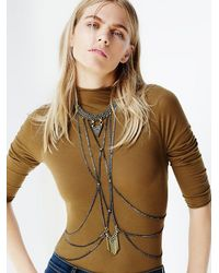 Free People - Green Biko Womens Nouveau Body Chain - Lyst