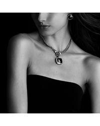 David Yurman - Metallic Double Wheat Chain Necklace With Diamonds - Lyst