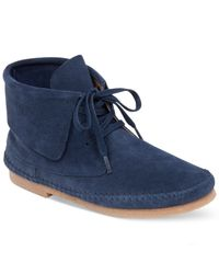 Lucky Brand | Blue Camella Lace-up Moccasins | Lyst