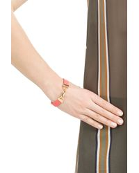 Marc By Marc Jacobs - Pink Leather Bracelet - Red - Lyst