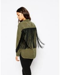 Blank - Green Nyc Shirt With Back Fringe - Lyst