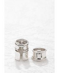 Forever 21 - Metallic Stacked Ring Set - Lyst