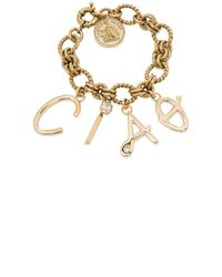 Lanvin | Metallic Ciao Charms Bracelet | Lyst