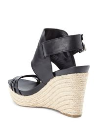 Vince Camuto - Black Temperton Wedge Sandals - Lyst