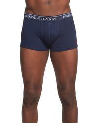 Polo Ralph Lauren   3-pack Cotton Trunks, Blue for Men   Lyst