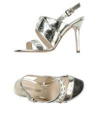 Enrico Lugani | Metallic High-heeled Sandals | Lyst