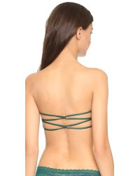 Free People - Essential Bandeau Bralette - Spruce Green - Lyst