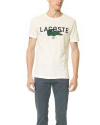 Lacoste - White Big Logo Tee for Men - Lyst