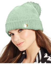 Betsey Johnson | Blue Fuzzy Logic Cuff Hat | Lyst