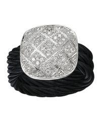 Alor | Metallic Square Latticework Diamond Cable Ring | Lyst