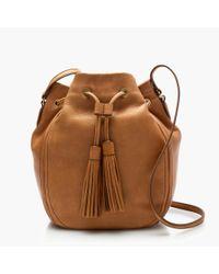 J.Crew | Brown Tassel-tie Bucket Bag | Lyst
