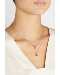 Brooke Gregson - Pink 18karat Rose Gold Tourmaline Necklace - Lyst