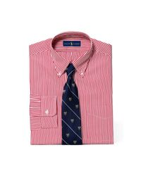Polo Ralph Lauren | Red Slim Striped Broadcloth Shirt for Men | Lyst
