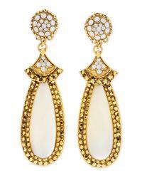 Jose & Maria Barrera | Metallic Mother-of-pearl Elongated Clip Earrings | Lyst