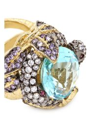 Anabela Chan | Multicolor 'serpent & Vine' 18k Gold Solitaire Topaz Cocktail Ring | Lyst