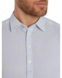 DIESEL - White S-ghei Regular Fit Micro Pattern Shirt for Men - Lyst