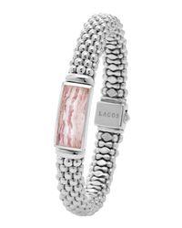 Lagos | Metallic Silver Maya Rhodochrosite Rope Bracelet | Lyst