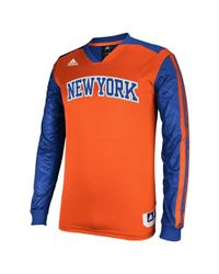 Adidas - Blue Men's Long-sleeve New York Knicks Shooter Shirt for Men - Lyst