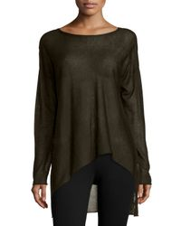Eileen Fisher | Black Sleek Tencel® Merino Top | Lyst