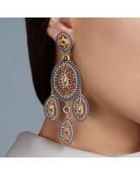 Miguel Ases | Orange Topaz Quartz Chandelier Earrings | Lyst