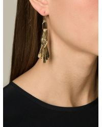 Aurelie Bidermann - Metallic 'Iroquois' Earrings - Lyst