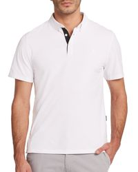 AG Green Label | White The Links Polo for Men | Lyst