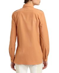 Stella McCartney | Orange Button-Front Blouse | Lyst