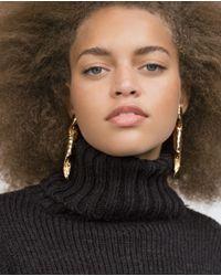 Zara | Metallic Long Spiral Earrings | Lyst