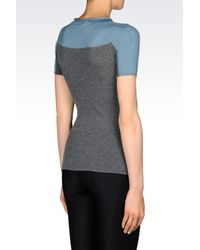 Armani | Gray Seamless Sweater In Virgin Wool | Lyst