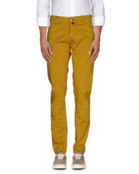 Pt05 - Yellow Casual Pants for Men - Lyst