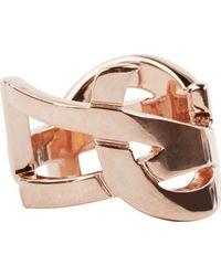 Saint Laurent | Pink Rose Gold Signature Monogram Ring | Lyst