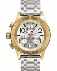 Nixon - Metallic 'the 38-20' Chronograph Bracelet Watch - Lyst
