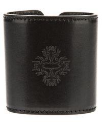 Ann Demeulemeester - Black Leather Cuff - Lyst
