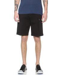 ATM - Black Ponte Track Shorts for Men - Lyst