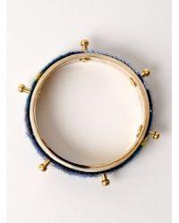 J.W.Anderson | Blue Tartan Single Bolt Horn Bracelet - Last One | Lyst