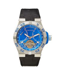 Vince Camuto | Blue Croco Master Watch for Men | Lyst