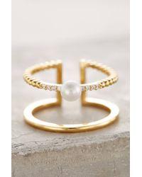 Anthropologie | Metallic Madeleine Pearl Ring | Lyst