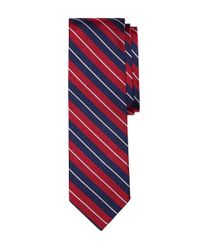 Brooks Brothers - Red Split Stripe Slim Tie for Men - Lyst