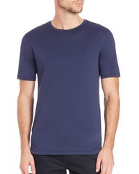 Helmut Lang - Blue Solid Crewneck Tee for Men - Lyst